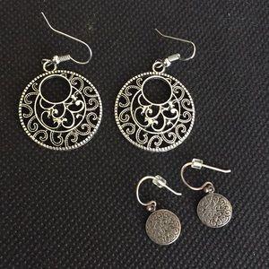 2 Pair of Super Cute Dangle Earrings